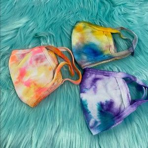 3 for $28 Tie-dye cotton face mask